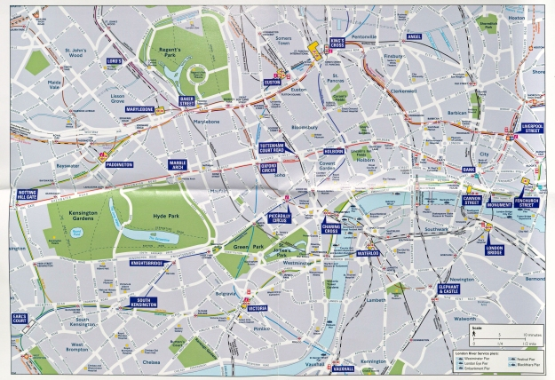 One of the two maps included on TfL's Central London bus and waling map. October 2017