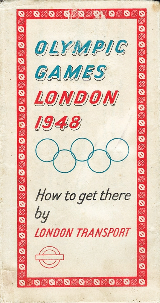 Free London Transport map to 1948 Olympics