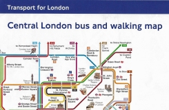 Folded TfL Central London bus and walking map. To large to be pocket sized, it appears that the designers failed to complete a good idea. 2017