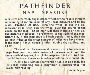 My red bodied measure was a souvenir sold on the Motor Vessel Royal Daffodil. The instruction leaflet refers to its as the 'Pathfinder' model- a common name used for a number of different measurers