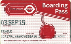 'Boarding Pass' for the Emirates Air-Line. 2015