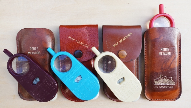 Map measurer became available for purchase from various motoring or tourist outlets