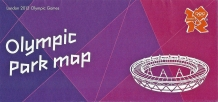 Olympic Park map. Specifically prepared in support of the Olympic Games that took place 27 July to 12 August 2012