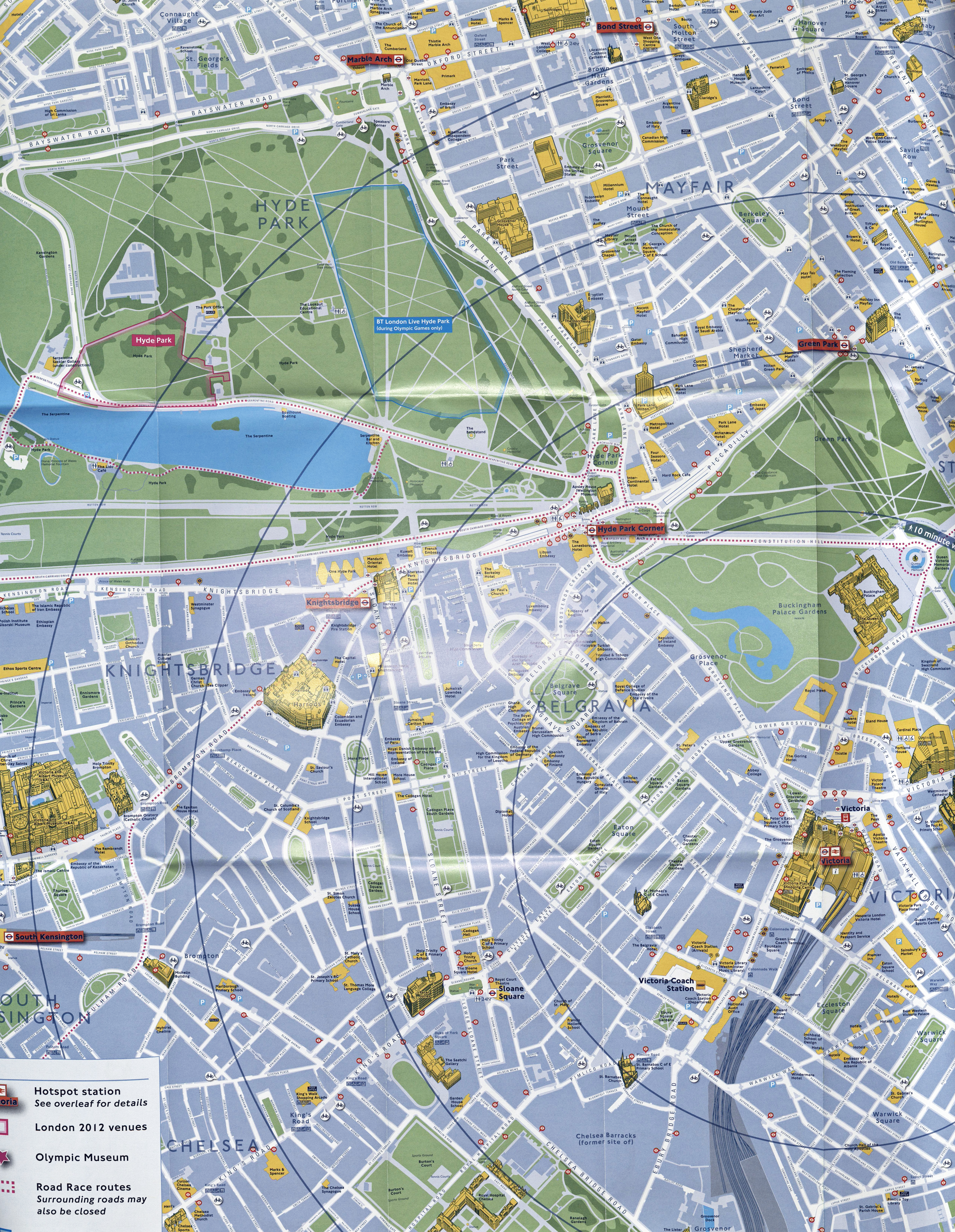 Detail from Victoria 'Why not walk it?' map. The detail included on this free map is impressive