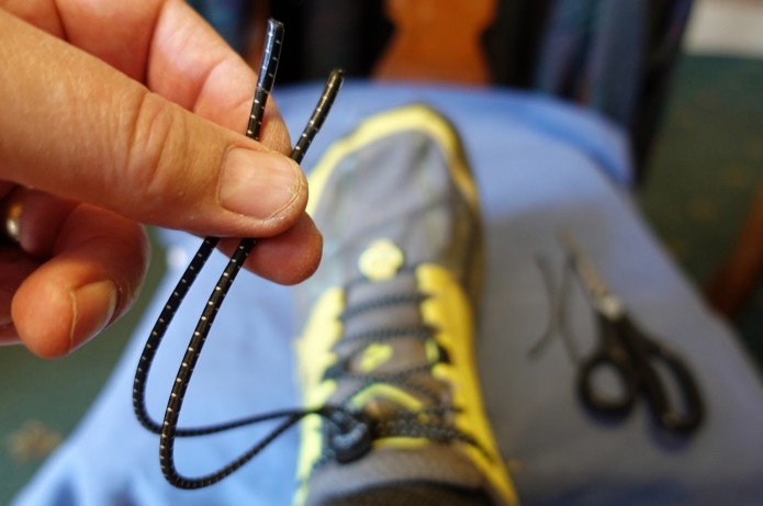 Laces are longer than required and need trimming