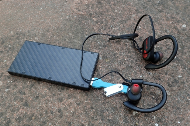 Treblab sports earbuds are bluetooth so require charging after some eight hours of use