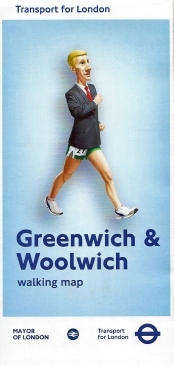 Greenwich & Woolwich map available during the 2012 Olympic and Paralympic Games. One of two larger area London maps available free of charge to the public