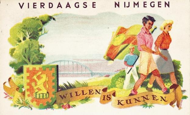 Vierdaagse Nijmegen postcard posted from Njjmegen in 1950