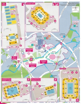 Free map sent to holders of tickets for Paralympic events taking place in the Olympic Park. The park was large and much of the layout temporary for the games themselves. 2012