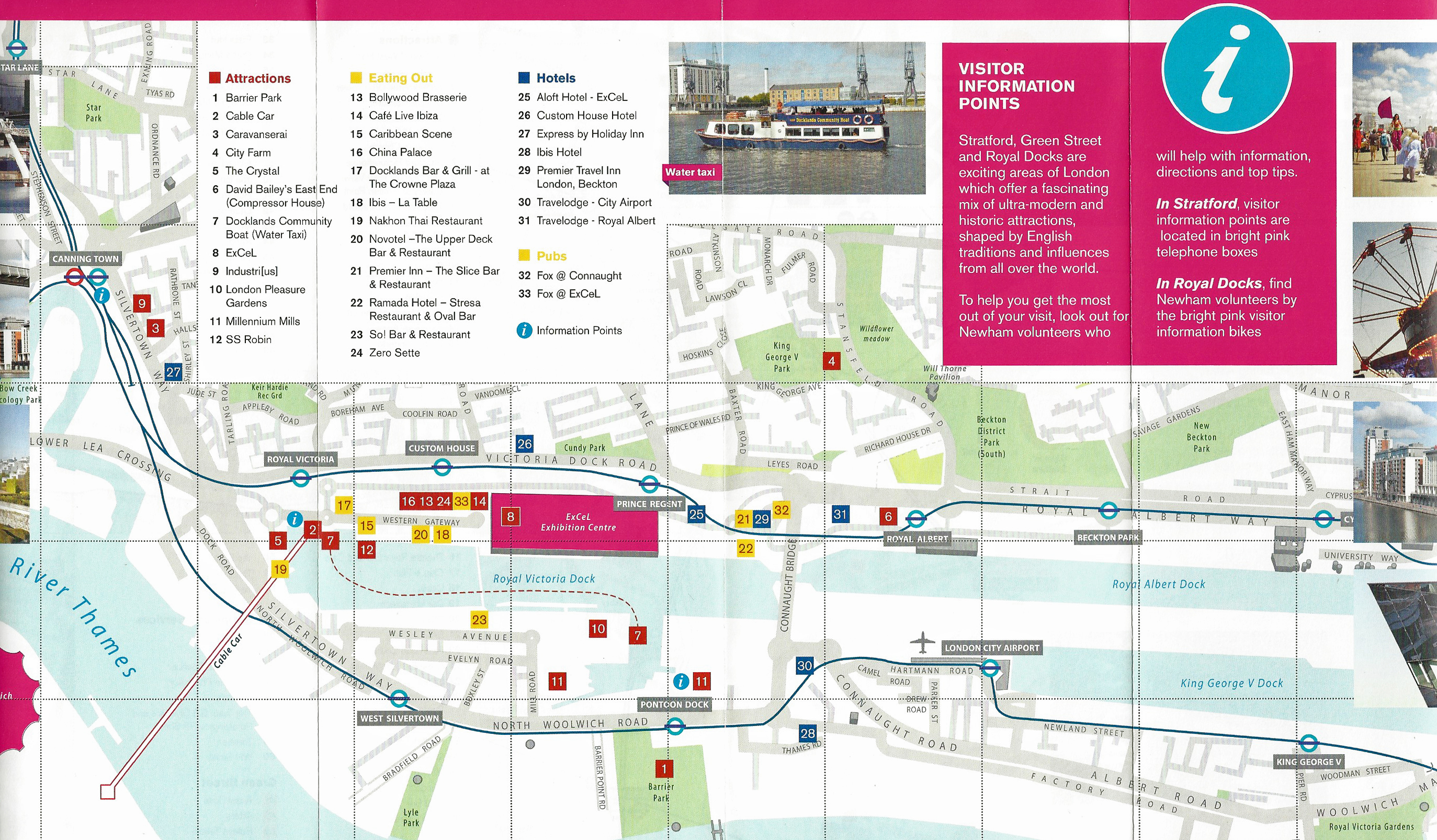 Detail from 2012 Newham Council leaflet showing the included map of Royal Docks London