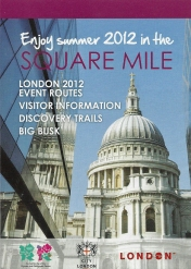 Free leaflet that included two maps containing helpful information for visitors to London. This was aimed more at those not attending sporting events and aided street level navigation and exploration of various associated events and tourist destinations. 2012