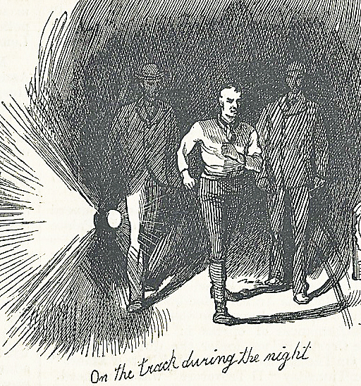 At night, Gale was escorted on the track by two other walkers, one carrying a lantern