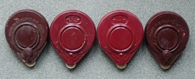 The rear of four generations of case casting