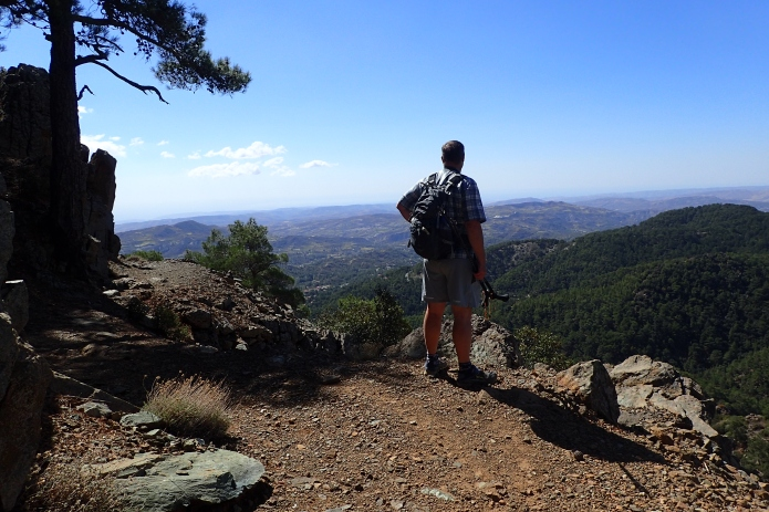 Three Points of the Compass hiking in Cyprus in 2016. Footwear was Injinji socks, Altra Lone Peak and Dirt Girl gaiters