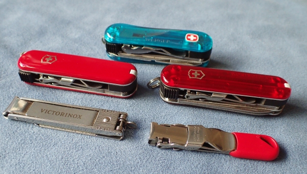 Wenger and Victorinox nail clippers