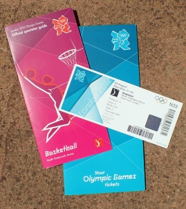 Ticket pack sent to someone fortunate enough to have gained a ticket to an Olympic event.