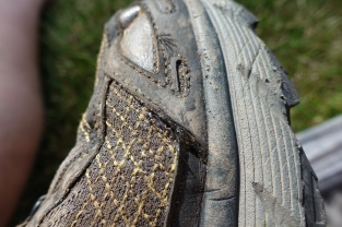A squirt of gel super glue kept a trail shoe that was coming apart from progressing further