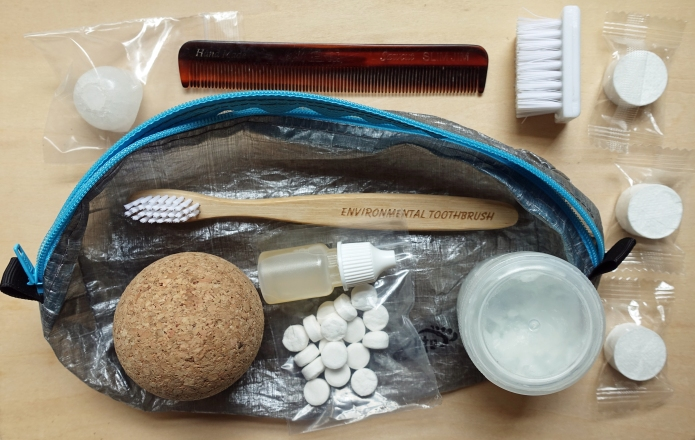 Contents of my wash kit