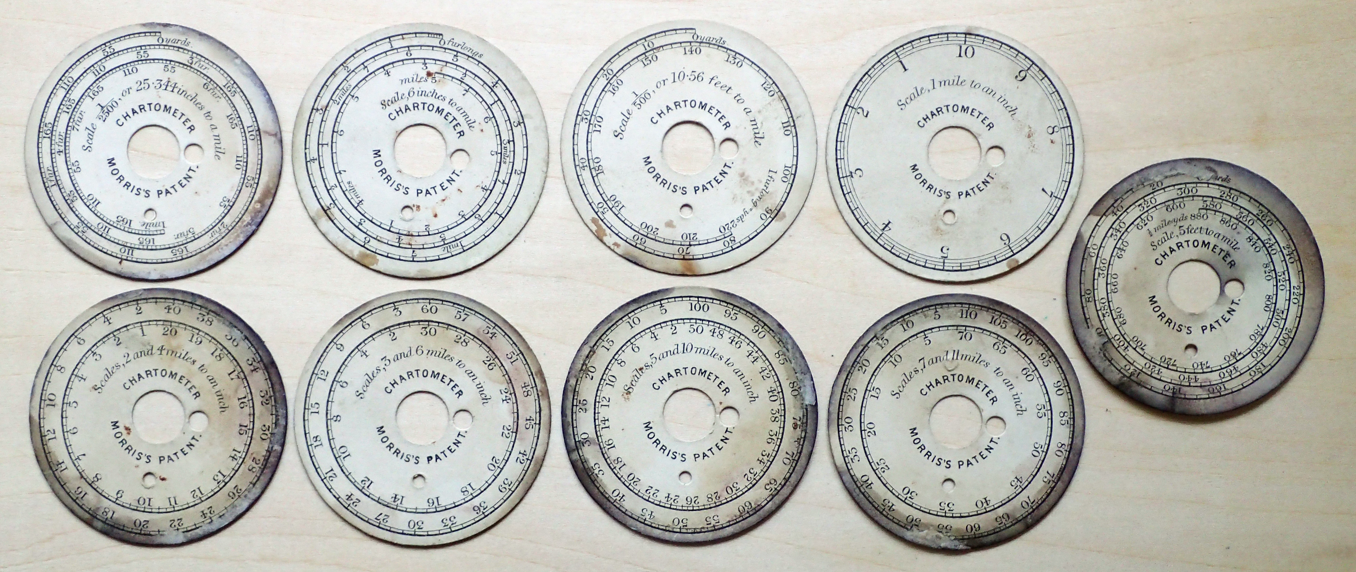 Scale cards for Morris's Patent Chartometer