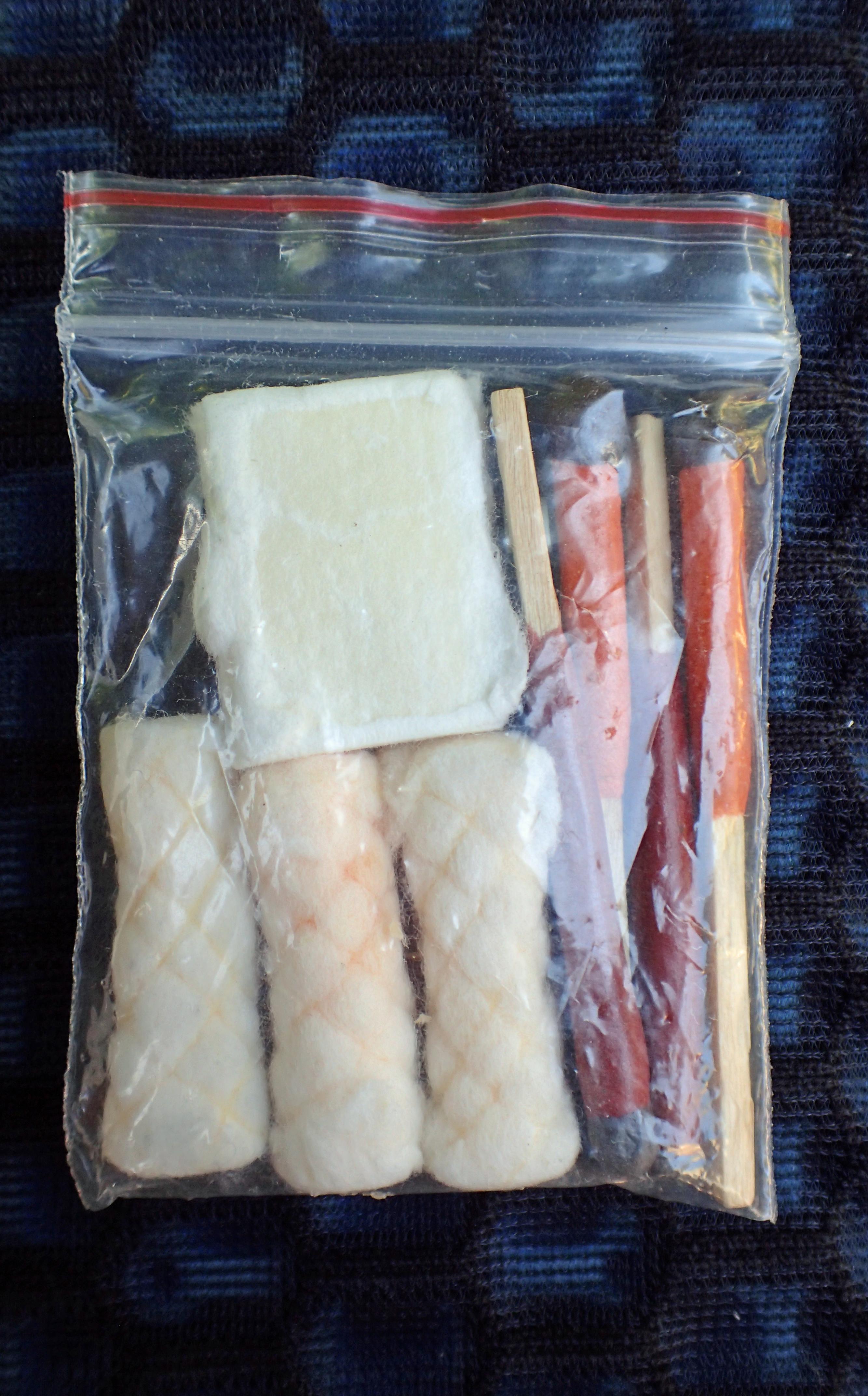 Fire kit in baggie