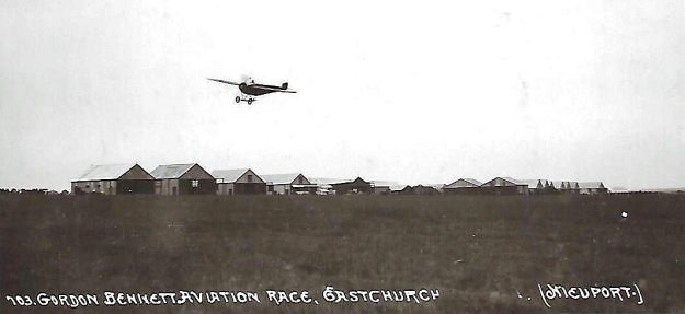 Early Monoplane flying at Eastchurch, Isle of Sheppey. This area was the location for the birth of British aviation