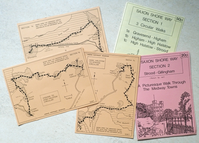 Three Points of the Compass picked up the available Saxon Shore leaflets around 1987. The trail at that time only ran between Gravesend and Rye. So it has only taken me 33 years to complete it