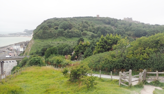 The Saxon Shore Way drops down to Dover town. Sadly the medieval castle is not on route