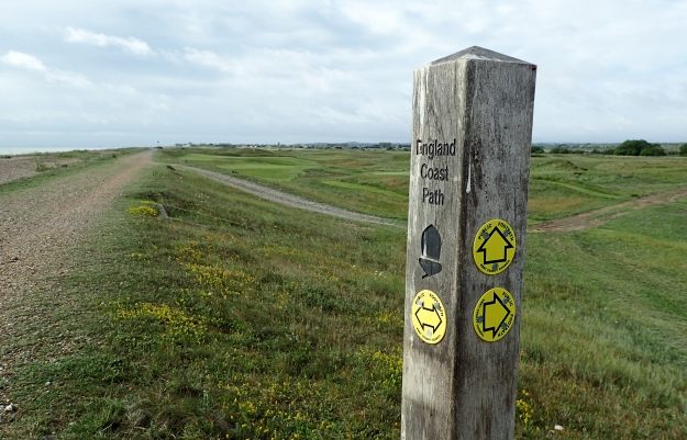 The England Coast Path was supposed to be completed in 2020 but is running severely late. This part of South East England was amongst the first to be completed and signage is already in place
