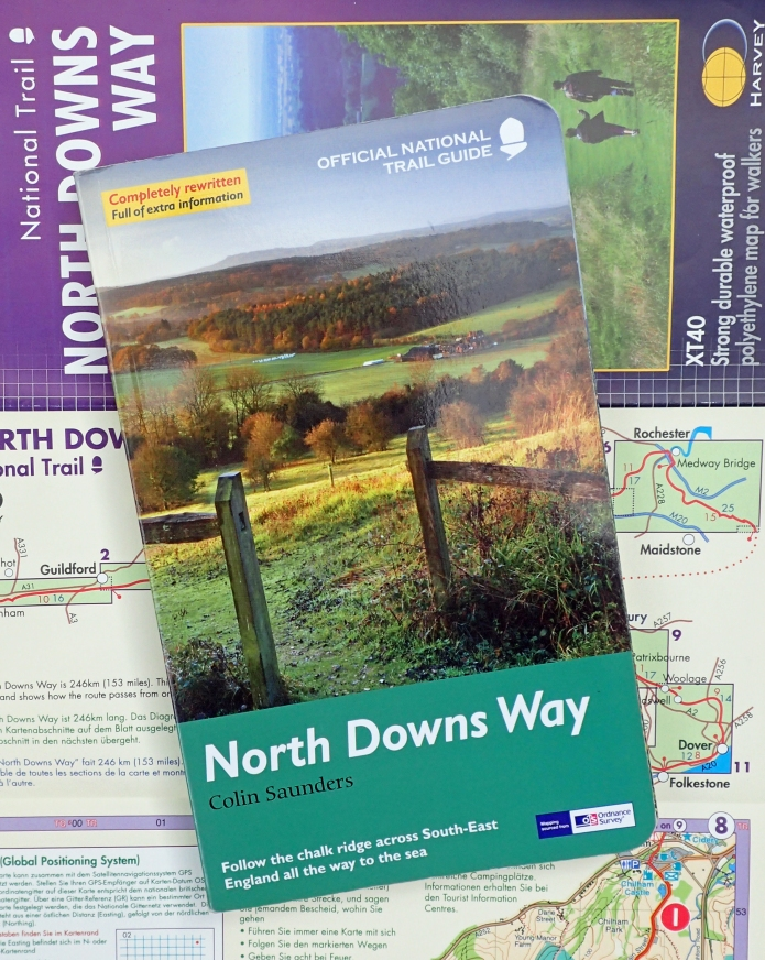 Official National Trail Guide to the North Downs Way by Colin Saunders. Published by Arum Press Ltd. Shown is the 2011 edition