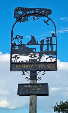 Village sign- Leysdown-on-Sea, the birthplace of British Aviation