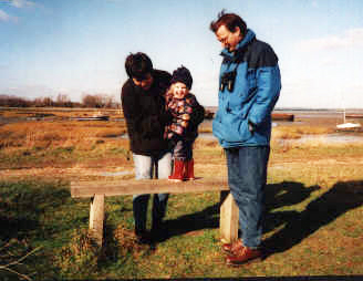 Three Points of the Compass family exploring the North Kent marshes in 1999, just as I did with my own mother 40 years previous