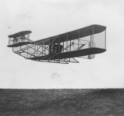 Charles Rolls flies his Short-Wright-Flyer 'A' from Shellbeach to Eastchurch on 21 December 1909