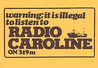 Car sticker for the pirate Radio Caroline