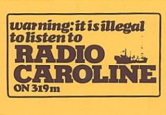 Car sticker for the pirate Radio Caroline