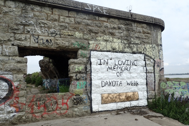 Grafitti on Shornemead Fort. Built by General Gordon in 1868 to protect the river approaches to London