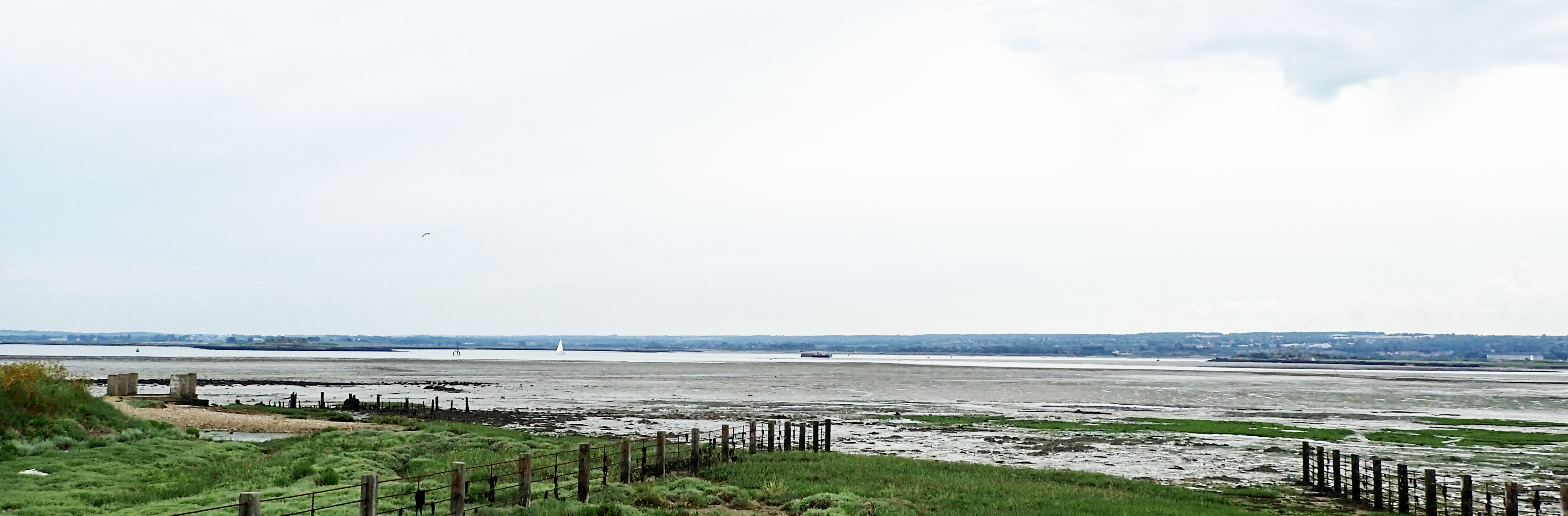 Darnet Fort (left) and Hoo Fort (right) can be seen on islands in the River Medway. Both were built on the recommendation of the 1859 Royal Commision and were eventually disarmed prior to the First World War though both were used as observation posts in the Second World War