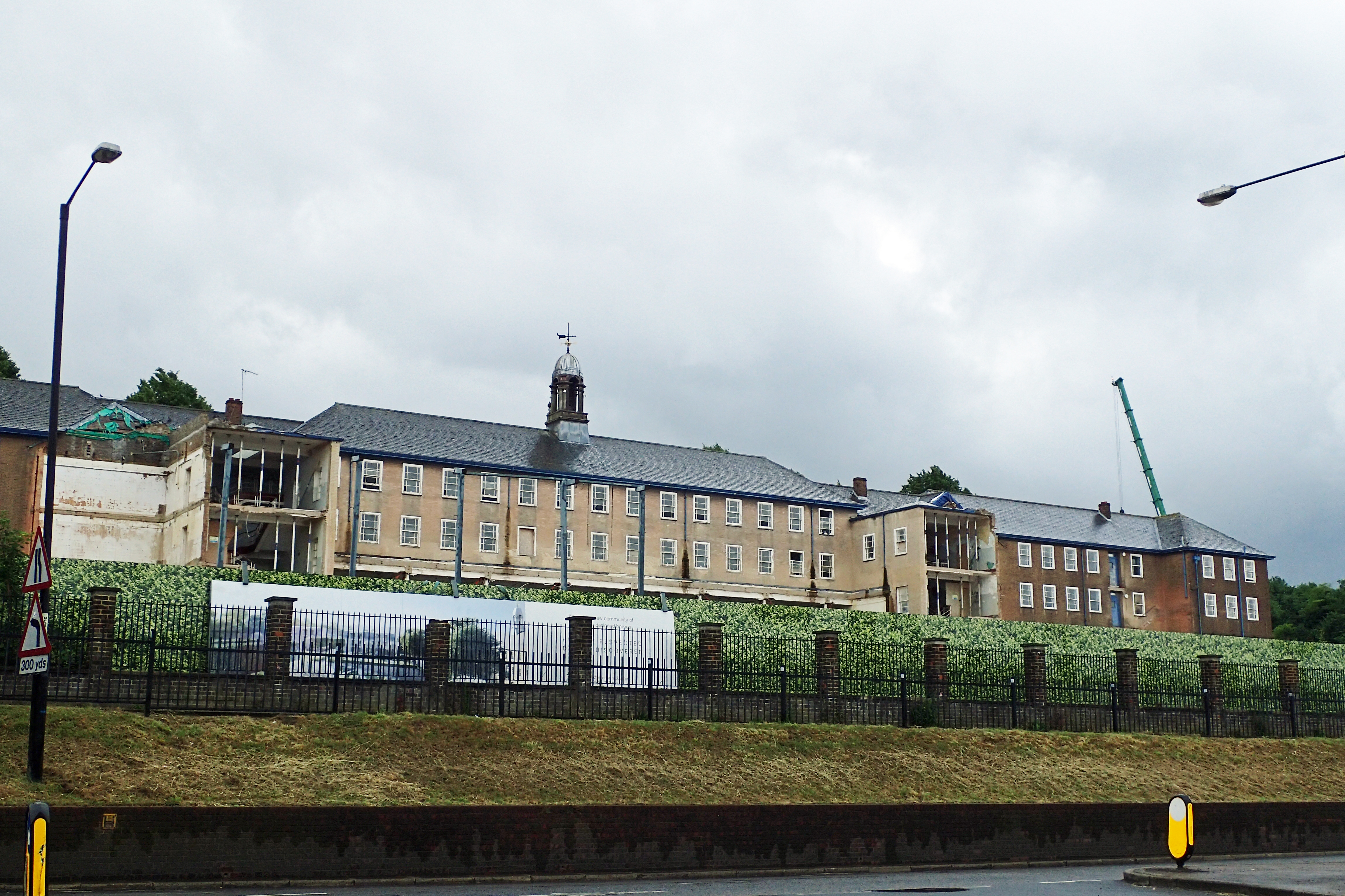 Kitchener Barracks. This block was rebuilt in the 1930s-1950s and is now a sad testament to the declining military presence in the Medway towns