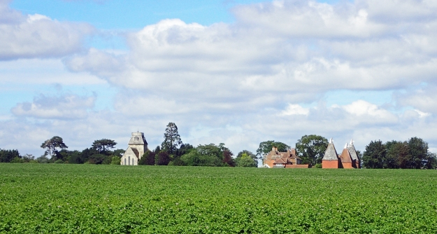 Stour Valley Walk is a mixture of quite roads and paths, rough grazing and farm crops. Hamlets and villages are dotted around and all is quintessentially British
