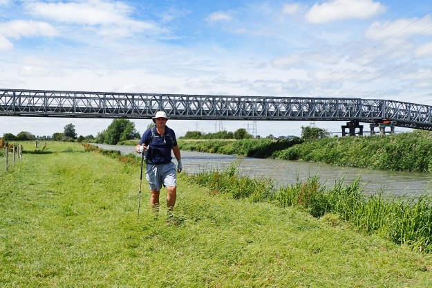 A grassy riverside trail follows the Stour all the way to the end of this days walk at Sandwich. This was aperfect day to be trying out a new piece of gear- Sun Gloves from Outdoor Research