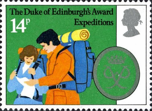 14p Duke of Edinburgh Award stamp, 1981