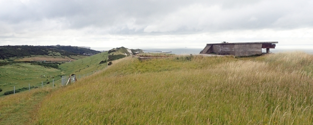 World War II lok outs are dotted all the way along the cliffs south west of Dover, though m ost are now overlooking the far newer Samphire Hoe Country Park, built from spoil dug from the Channel Tunnel