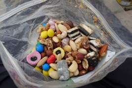 Trail mix- keep it to hand, not packed away