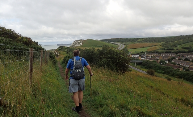 Walking the cliffs out of Dover and heading toward Folkestone