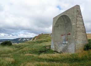 Concrete parabolic sound mirror