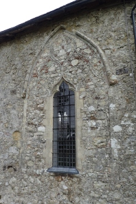 Window on south wall of St Marys reveals 'ghost tracery' of the original and much larger window