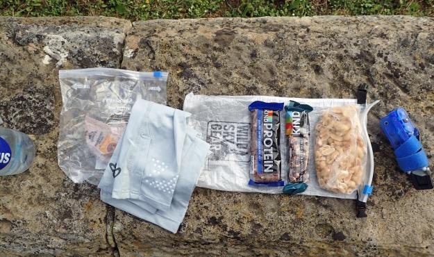 Contents of Day Bag- Saxon Shore Way, 2020