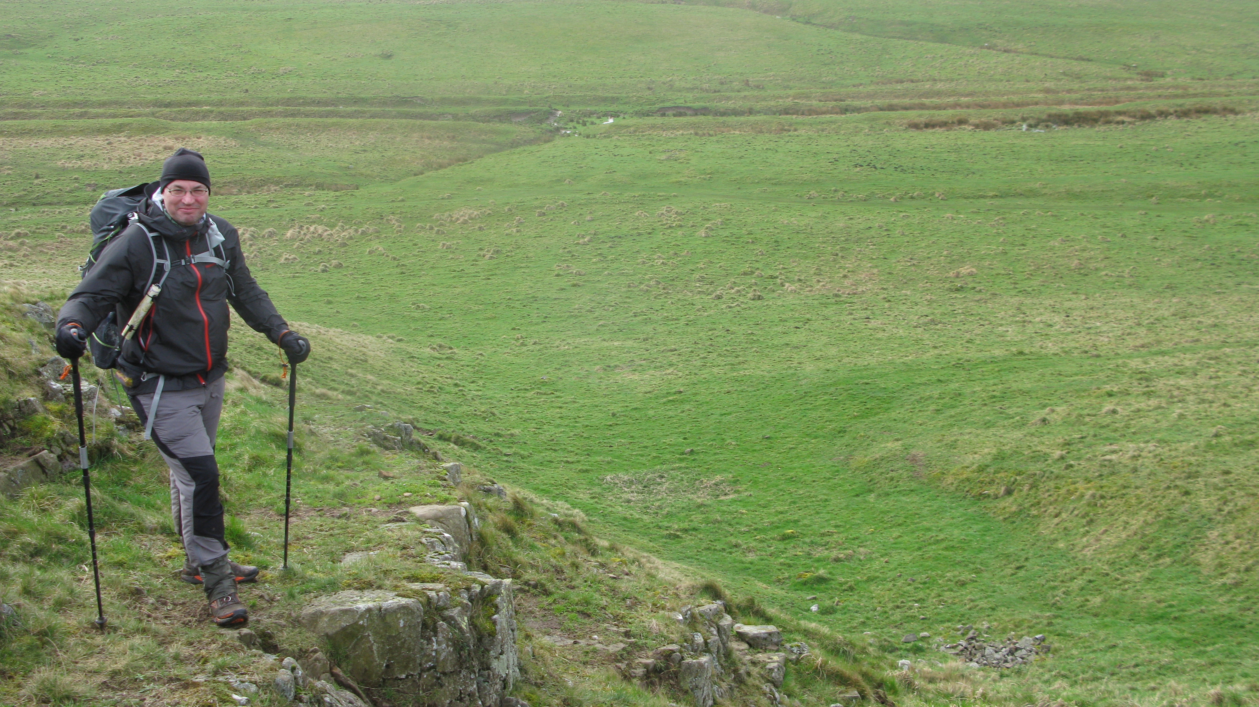 Three Points of the Compass with Pacer Poles, Hadrian's Wall, 2014