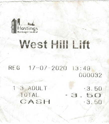 Ticket to West Cliff lift