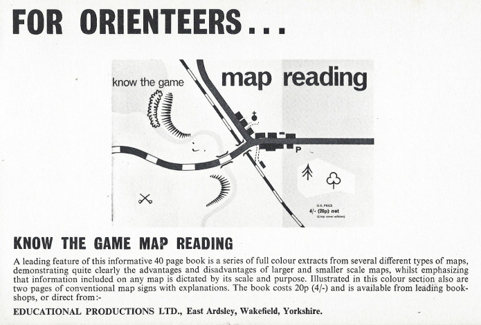 1970 advertisement for Know the Game- map reading