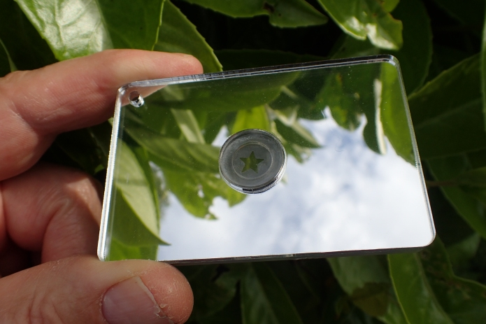 Acrylic signal mirror is a useful size
